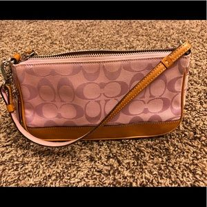 Coach leather bottomed purse